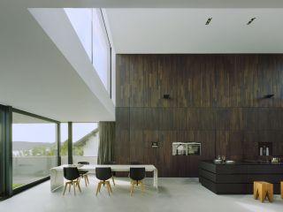 Luxus Küche Mit Holzwand