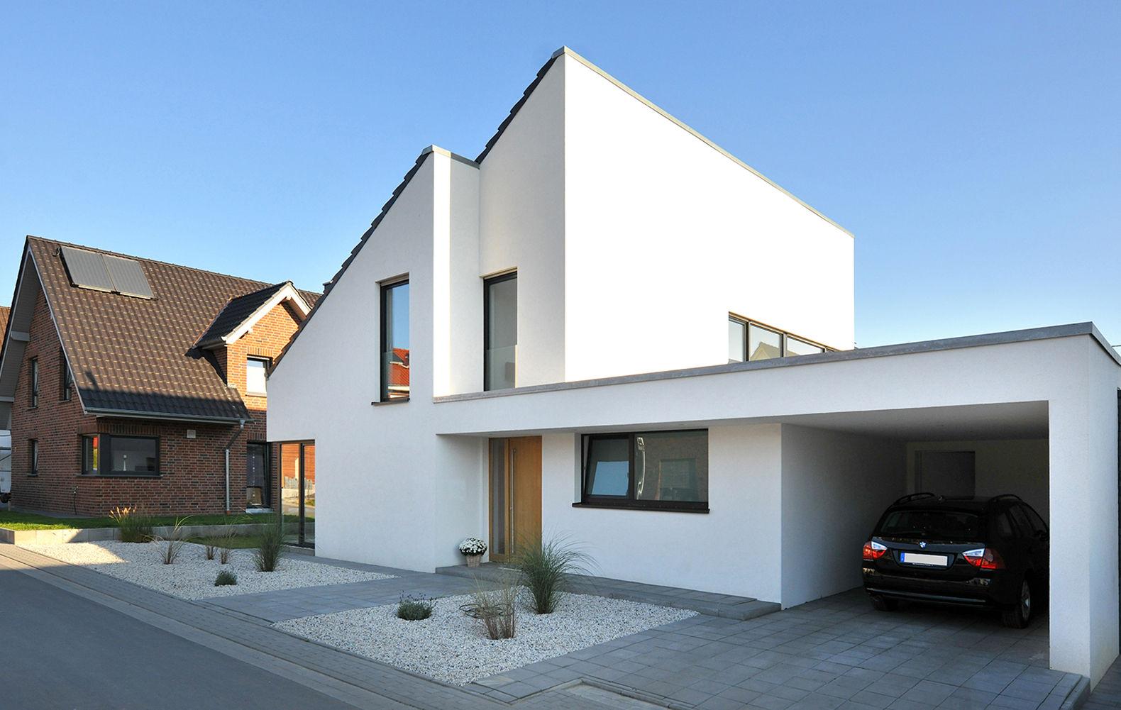 Wunderschön Hauseingang überdacht Referenz Von Mit Modernem Vorgarten