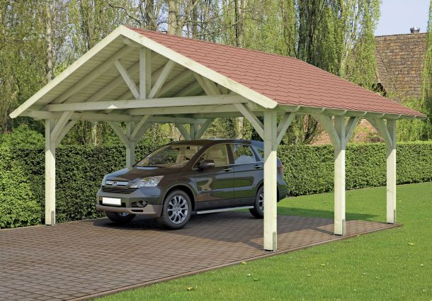 Carport bauen for Holzkonstruktion carport