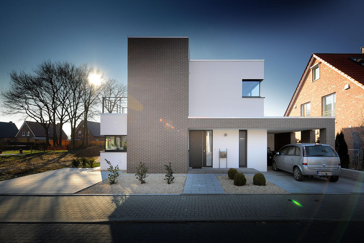 Moderne Hauseingänge moderner hauseingang mit gekiestem vorgarten bauemotion de