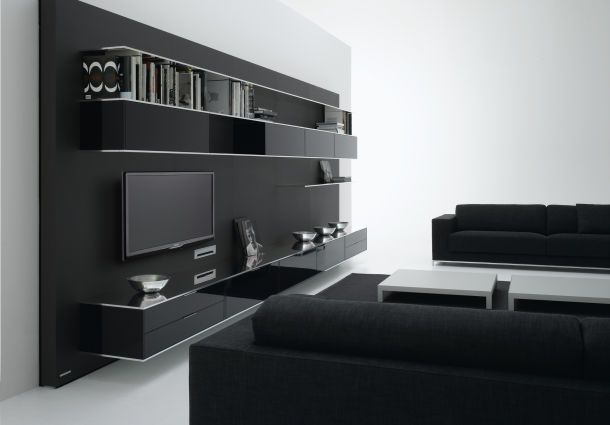 medienm bel clevere ideen f r das home entertainment. Black Bedroom Furniture Sets. Home Design Ideas